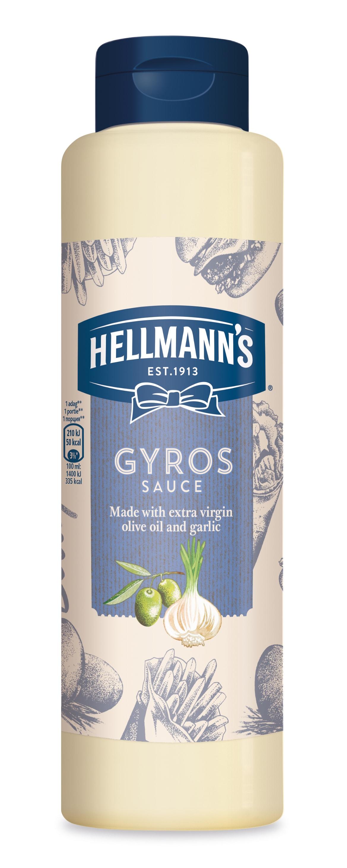 Hellmann's Gyros umak - Umak s ekstra djevičanskim maslinovim uljem i češnjakom 850 ml