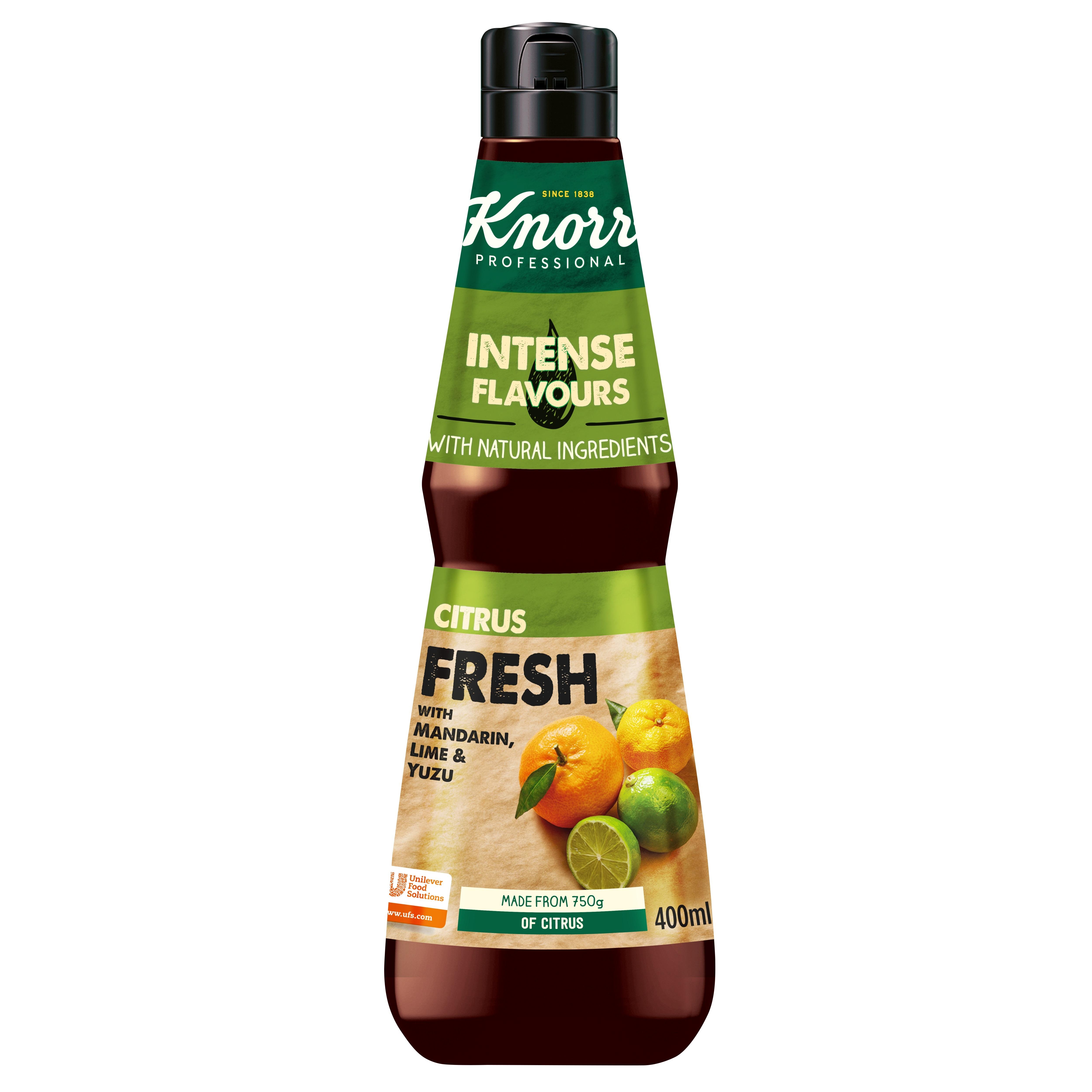 Knorr Snaga okusa - Citrus Fresh - Uzbudljivi sastojci  za fuziju okusa uhvaćeni u boci.