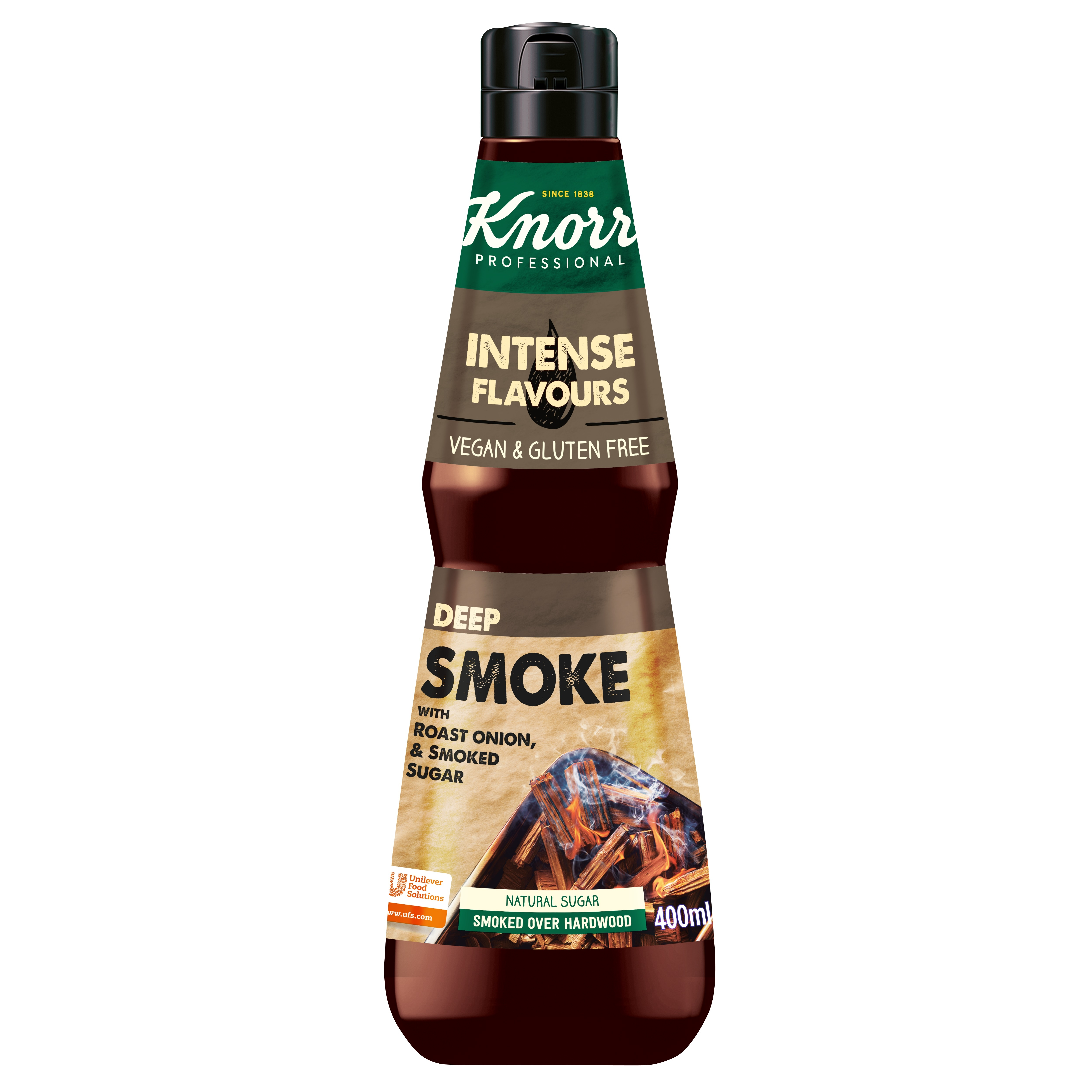 Knorr Snaga okusa - Deep smoke - Uzbudljivi sastojci  za fuziju okusa uhvaćeni u boci.